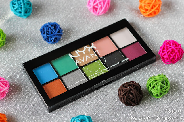 Палетка теней NYX AVANT POP! Shadow Palette ART THROB (APSP01)