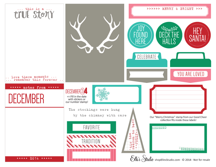 Elle's Studio Merry and Bright Printables
