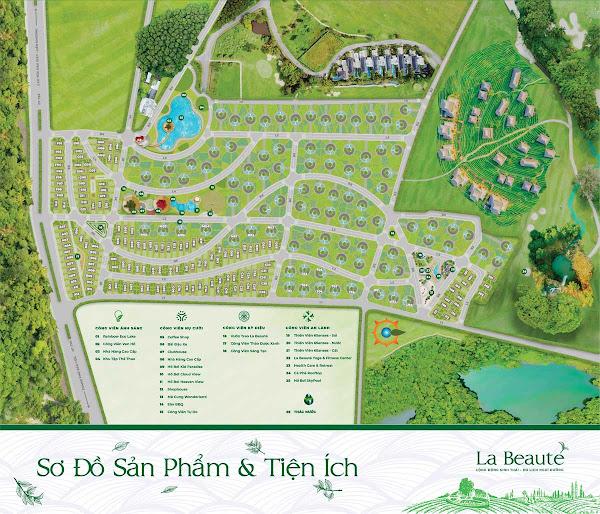 mặt bằng phân lô dự án La Beaute' Bảo Lộc ( Lâm Đồng)