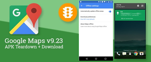 Google Maps got v9.23 Update for Android with New visual Distinct Notifications & Automatic Offline maps : Download APK