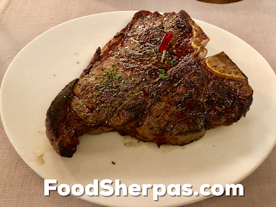 T-bone steak from Carnal in Santiago, Chile