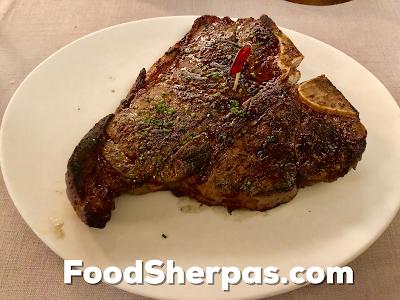 T-bone steak from Carnal in Santiago, Chile
