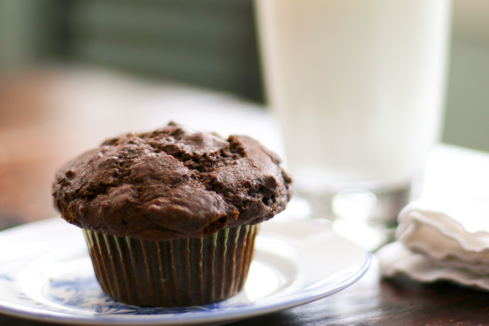 Snow Day Chocolate Muffins - Flax & Twine