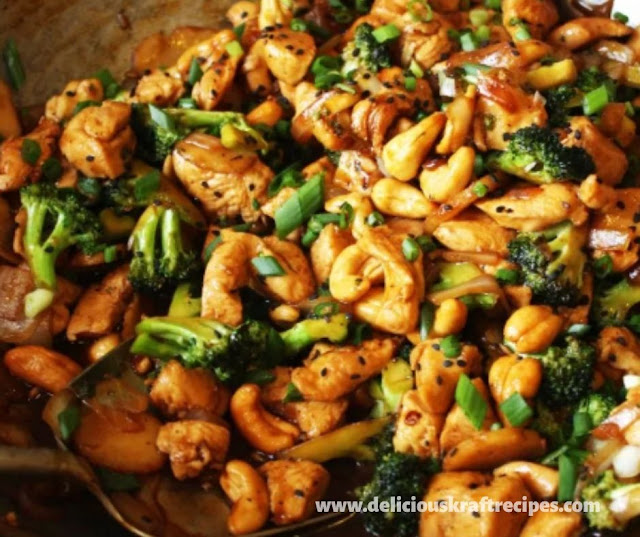 HOMEMADE CASHEW CHICKEN RECIPE