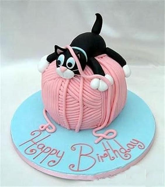 Ảnh mừng sinh nhật chú mèo dễ thương cho các bạn nhỏ thích mèo