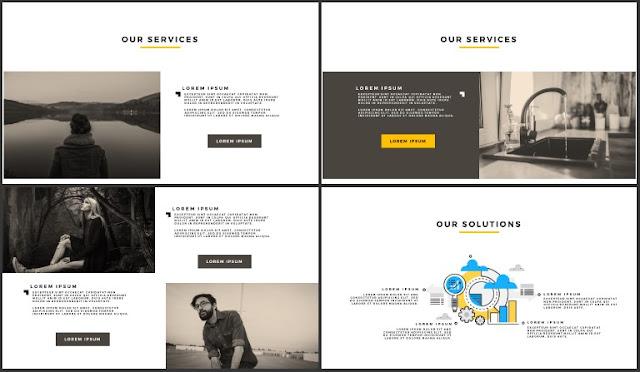 Desktop Screen Mock-up and Multi - Purpose Free PowerPoint Template [SIMPLE] Slides 21-24
