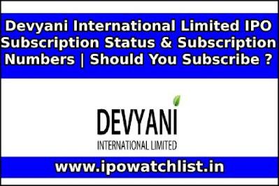 Devyani International Limited IPO Subscription Status