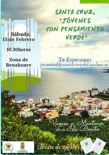 Santa Cruz de La Palma invita a los jóvenes de la capital y de la isla a participar en una iniciativa de voluntariado ambiental