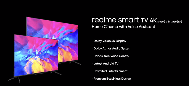 realme smart TV 4K series features