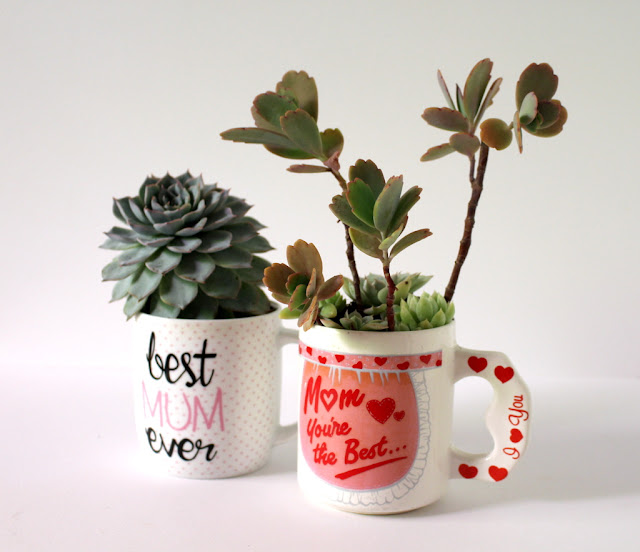Easy Diy Planter Mugs for Mothers Day