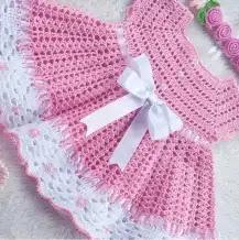 Vestido Bebé Aurora a Crochet