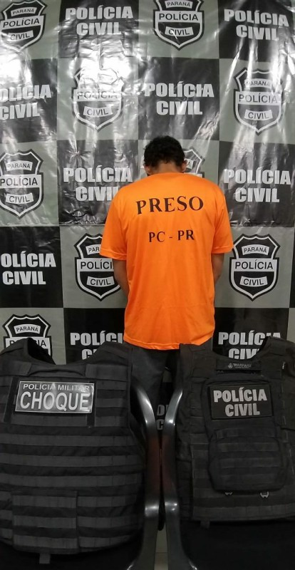 PM e Polícia Civil prendem rapaz com mandado por homicídio qualificado no assentamento em Rio Bonito do Iguaçu