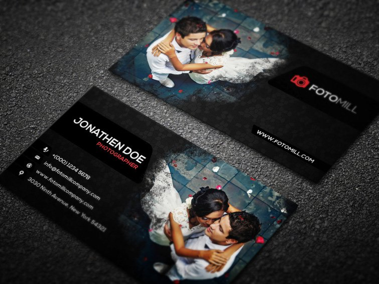 85 best free psd business card templates photoshop download photography business card template psd flashek Images