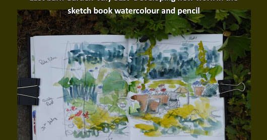 Developing paintings in the garden