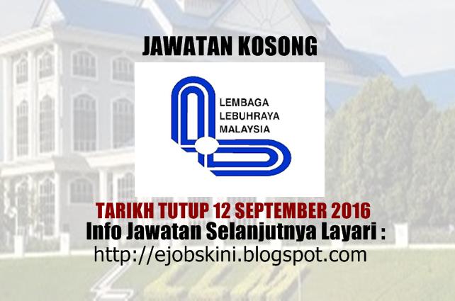 jawatan kosong lembaga lebuhraya malaysia (llm) september 2016