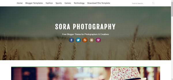 best-free-template-for-photography-blog