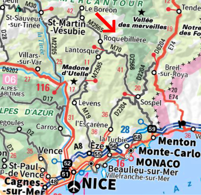 Gordolasque Valley location