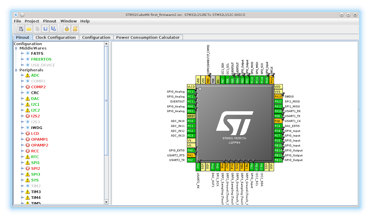 Embedded Den First Steps With Stm32l152 Uart And Spi Simple Program Pin Diagram Lets Use A Board Configuration From The Last Post