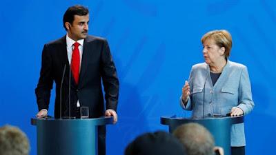 تميم والمستشارة الألمانية