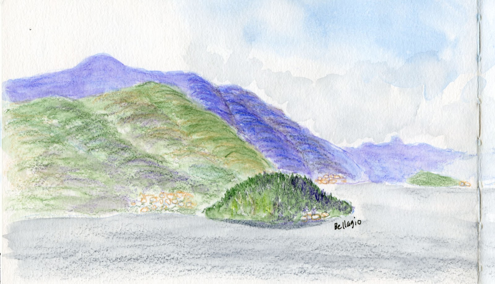 Fueled by Clouds & Coffee: Italy, Part 6: My Colored Pencil Breakthrough