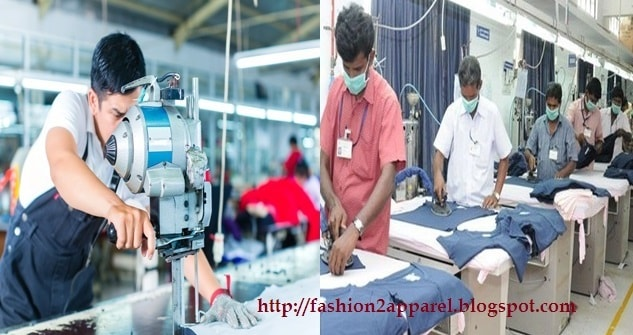 Garment cutting and finishing section