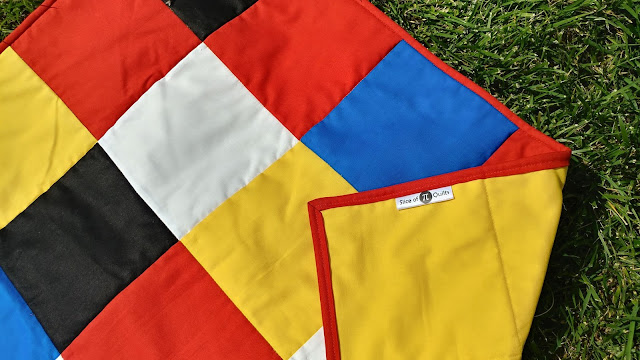 Patchwork quilt to match the quilt in Maisy's Bedtime children's book