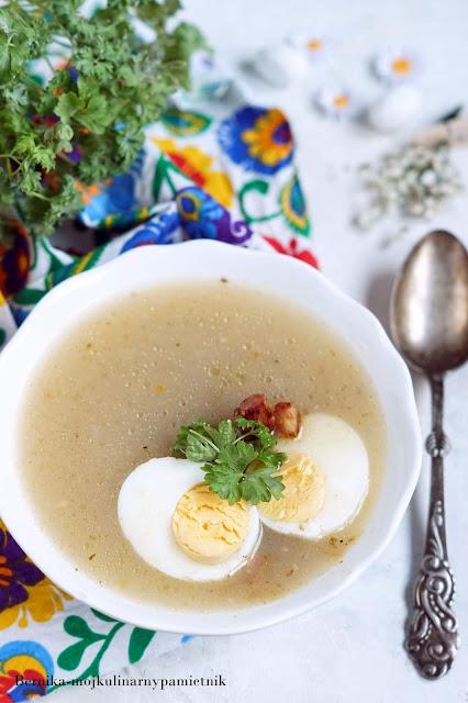 barszcz, zur, wielkanoc, swieta, zupa, obiad, bernika, kulinarny pamietnik