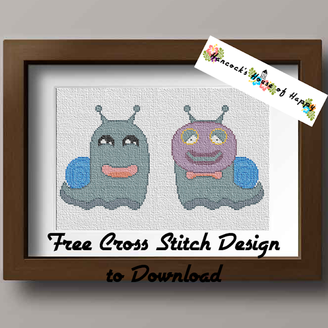 The Impostor Monster Free Snail Cross Pattern to Download