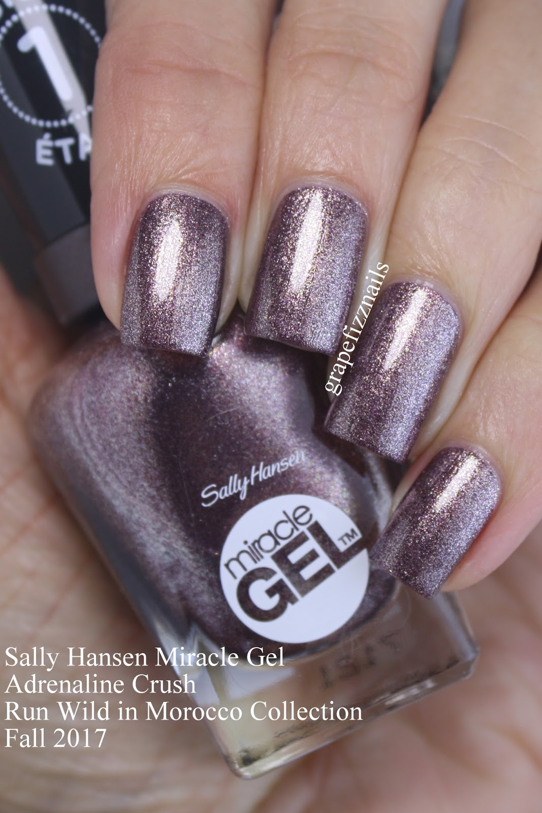 Grape Fizz Nails New Sally Hansen Miracle Gel Fall 2017