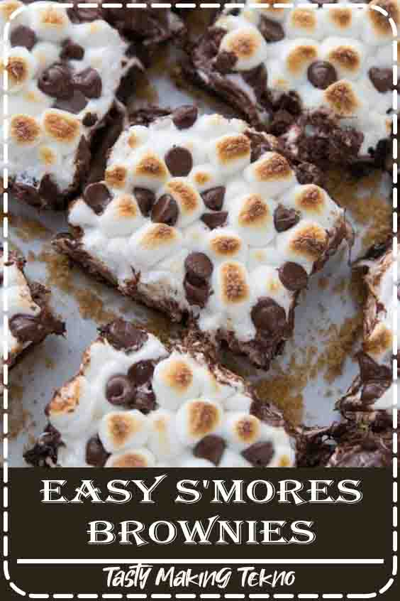 Delicious S'mores Brownies recipe that is quick and easy to make. This is an easy summer recipe that will win anyone over.