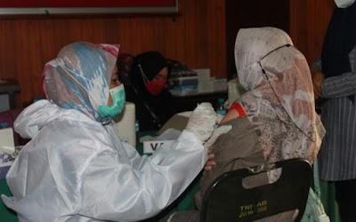Antusias, 530 Orang Ikut Vaksin Dosis Ke 2 Yang Digelar Kodim 1628/SB