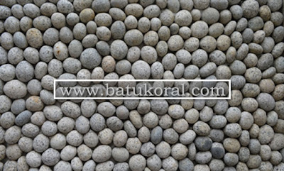 juakl batu koral telur puyuh untuk dinding