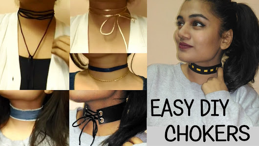The Vibrant Chunk: 10 DIY CHOKER IDEAS - All Under Rs50 Only!