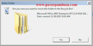 hapus file dan folder yang tidak bisa dihapus
