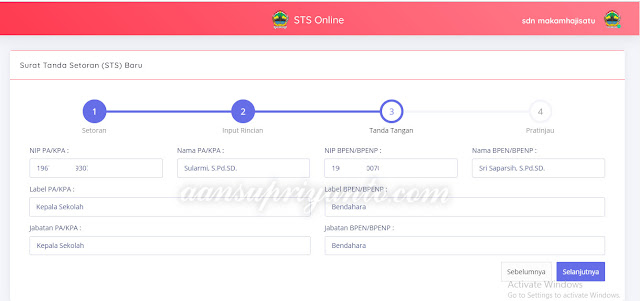 STS-Online, Mekanisme Pengembalian Kelebihan Dana BOS Propinsi Jateng