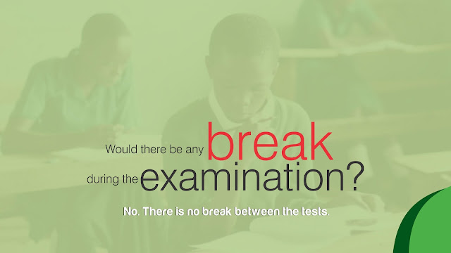 Would there be any break during the JAMB UTME examination?
