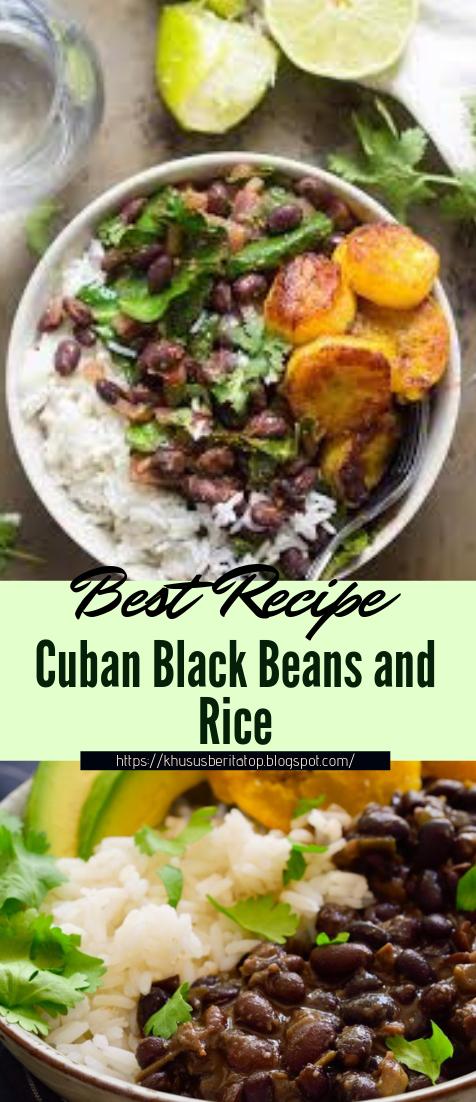 Cuban Black Beans and Rice #dinnerrecipe #food #amazingrecipe #easyrecipe