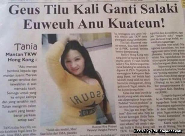 Tania, Nia, Geus Tilu Kali Ganti Salaki, Euweuh Anu Kuateun!