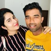 sachin baby with her wife