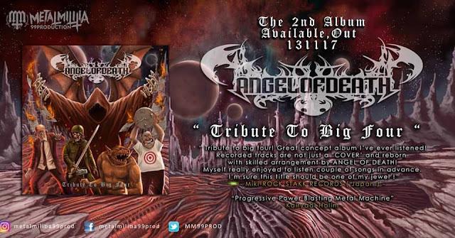 """Angel Of Death melepas album kedua """"Tribute To Big Four"""""""