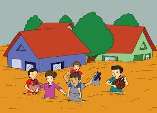 memberikan bantuan kepada korban banjir www.simplenews.me
