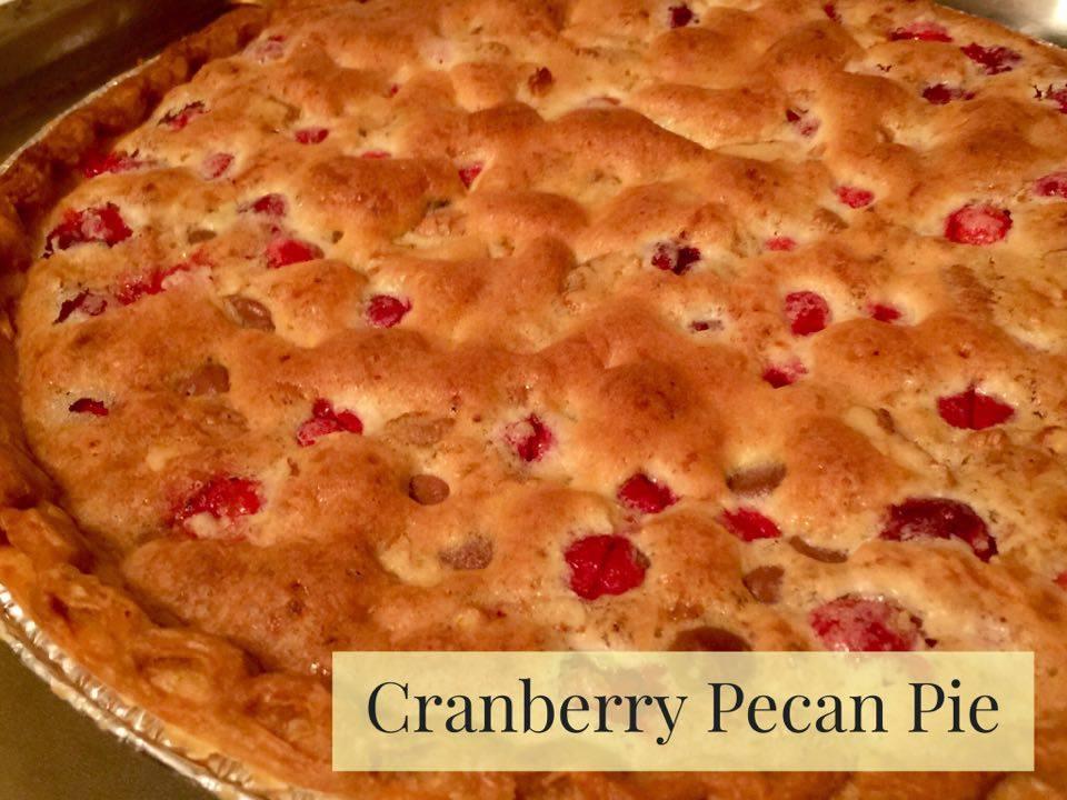 Moms Pantry: Holiday Recipes - Cranberry Pecan Pie