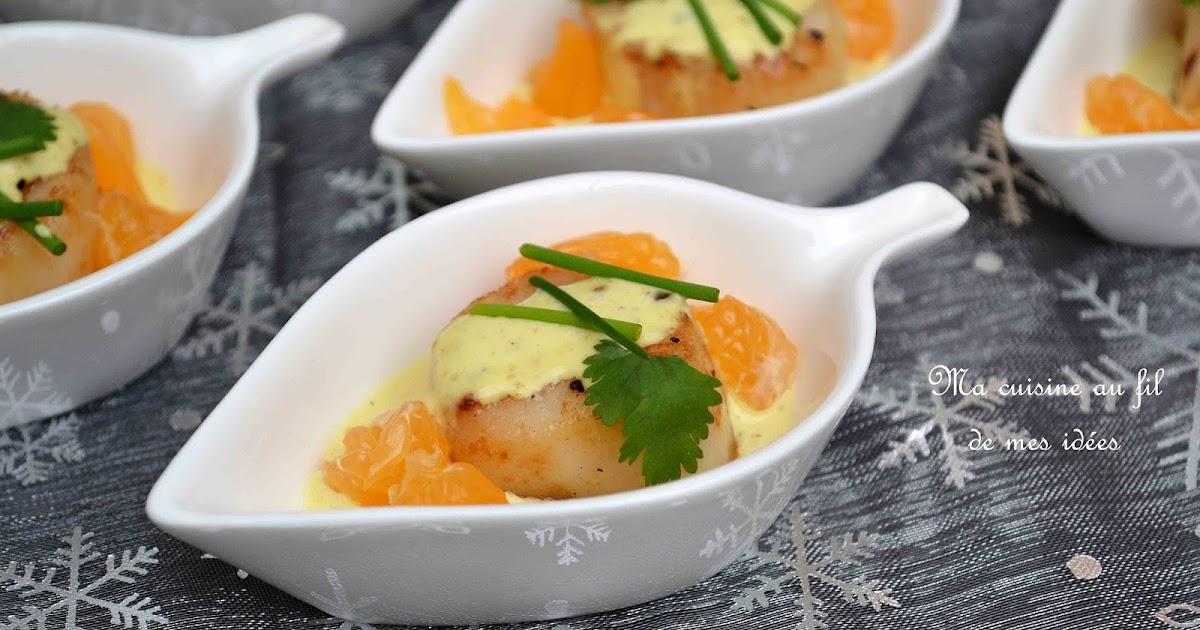 Ma cuisine au fil de mes id es mise en bouche de noix de saint jacques snack es aux - Saint jacques au curry ...