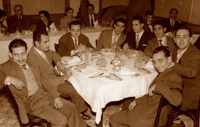 Comida de celebración del Club d'Escacs Barcelona 1956