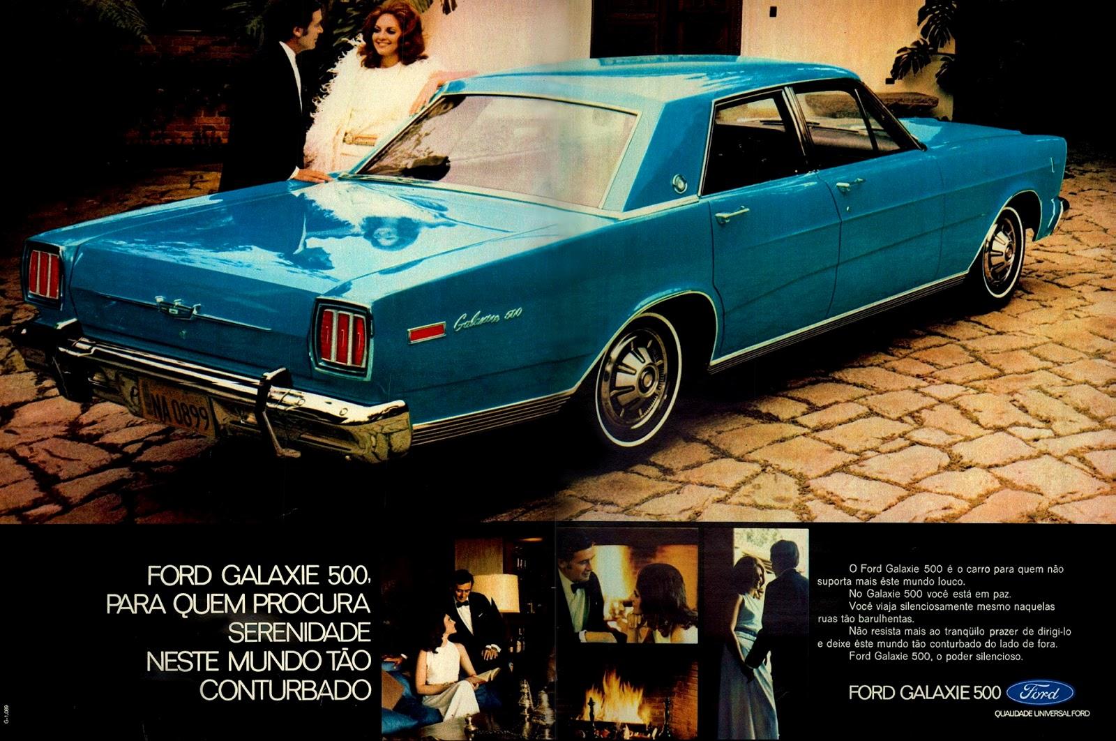 Anúncio da Ford promovendo o Galaxie 500 no ano de 1971