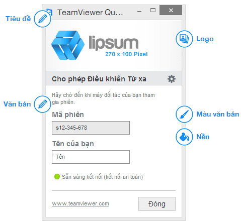 Custom your own Teamviewer