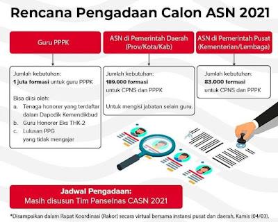 Mulai April, Pemerintah Akan Buka Pendaftaran CASN 2021