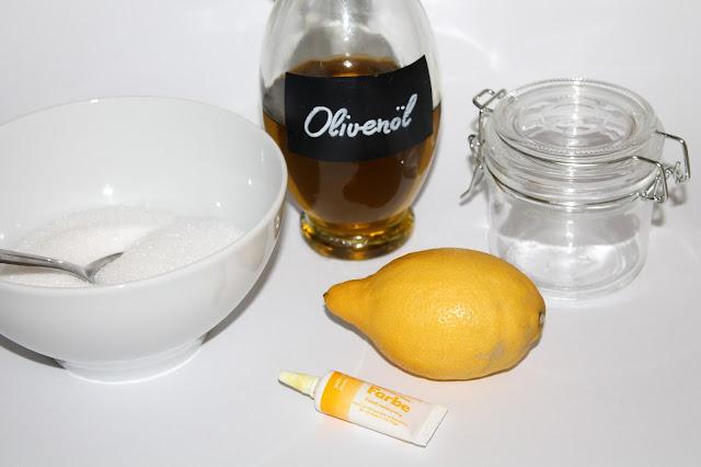 DIY, Basteln: Sugar Scrub / Zuckerpeeling Zitrone in Kosmetik als Geschenkidee und Wohndekoration - DIYCarinchen