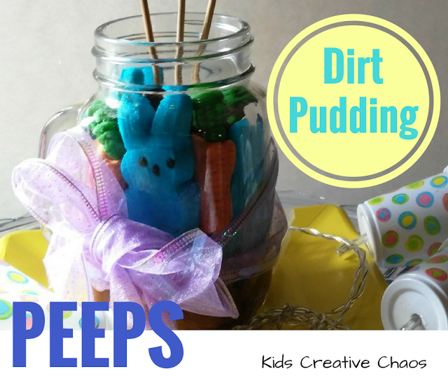 Easter Party Favors: Peeps Dirt Pudding Dessert Cups