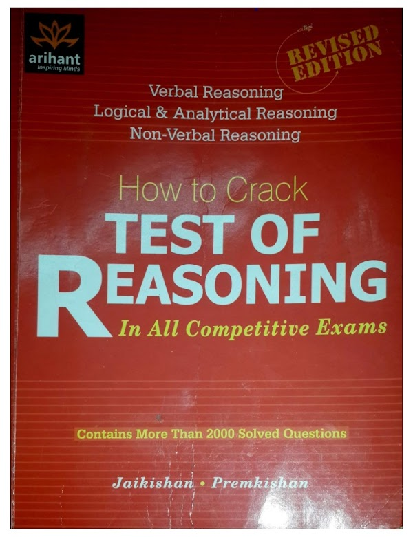 """Arihant Publication """"How to crack test of reasoning"""" in all competitive exams pdf ebook"""
